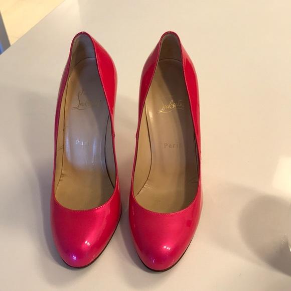 2c5c07be08ae Christian Louboutin Shoes - Christian Loubitin Hot Pink Simple 100